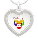 Fueled by Jam Silver Heart Necklace