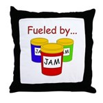 Fueled by Jam Throw Pillow