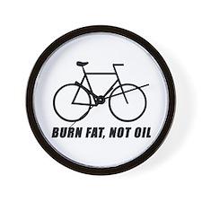 Burn fat, not oil (cycling) Wall Clock
