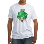 'Deadly Dice' Fitted T-Shirt