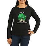 'Deadly Dice' Women's Long Sleeve Dark T-Shirt