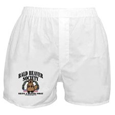Bald Beaver Society Boxer Shorts