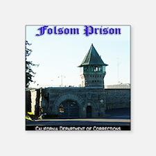"""folsomprison Square Sticker 3"""" x 3"""""""