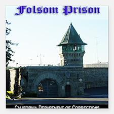 """folsomprison Square Car Magnet 3"""" x 3"""""""