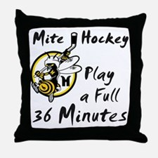 36 Minutes Throw Pillow