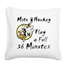 36 Minutes Square Canvas Pillow