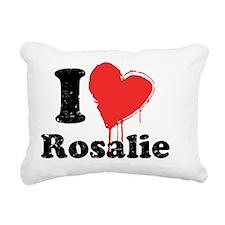 heartrosalie_black Rectangular Canvas Pillow