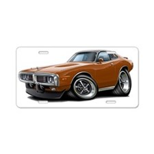 1973-74 Charger Brown-Black Aluminum License Plate