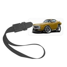 1973-74 Charger Gold Car Luggage Tag