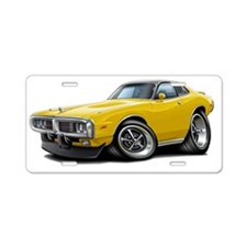 1973-74 Charger Yellow-Blac Aluminum License Plate