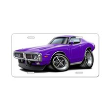 1973-74 Charger Purple Car Aluminum License Plate