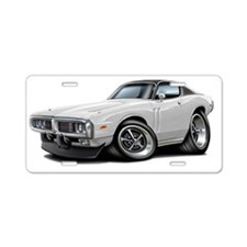 1973-74 Charger White-Black Aluminum License Plate