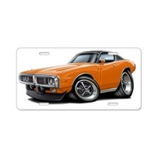 1973-74 Charger Orange-Blac Aluminum License Plate