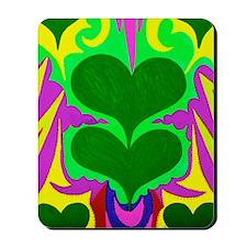 BFB Angel Hearts Dark GreenLight Green 2 Mousepad