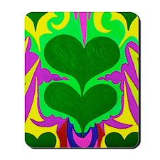 BFB Angel Hearts Dark GreenLight Green 1 Mousepad