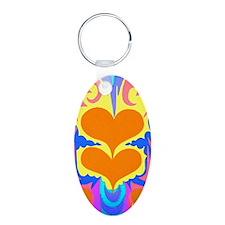 BFB Angel Hearts Dark Orang Keychains