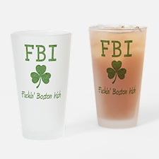 fbi-irish Drinking Glass