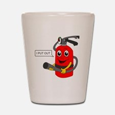 fire extinguisher cartoon Shot Glass