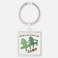 camp Square Keychain