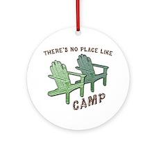 camp Round Ornament