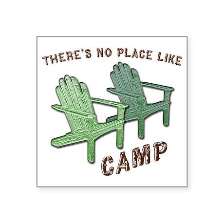 "camp Square Sticker 3"" x 3"""