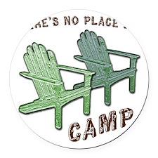 camp Round Car Magnet