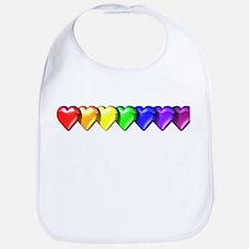 Rainbow Hearts Bib