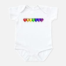 Rainbow Hearts Infant Bodysuit