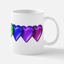 Rainbow Hearts Mug