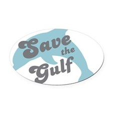 dolphingulf-01 Oval Car Magnet
