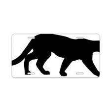 panther Aluminum License Plate