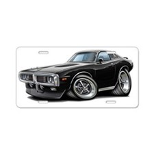 1973-74 Charger Black SE Ca Aluminum License Plate