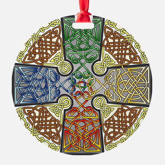 Celtic Cross Earth-Air-Fire-Water Ornament