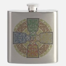 Celtic Cross Earth-Air-Fire-Water Flask