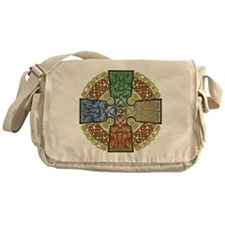 Celtic Cross Earth-Air-Fire-Water Messenger Bag
