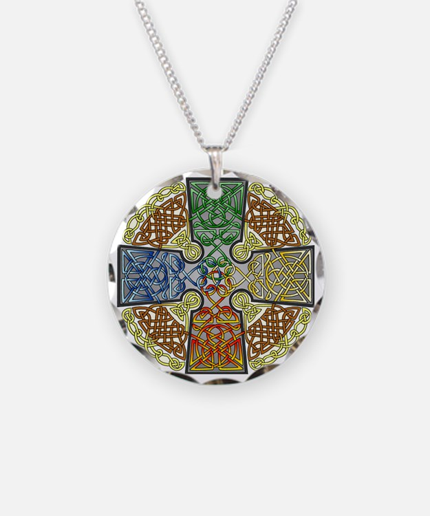 Celtic Cross Earth-Air-Fire- Necklace