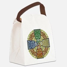 Celtic Cross Earth-Air-Fire-Water Canvas Lunch Bag