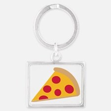 pizza_simple Landscape Keychain