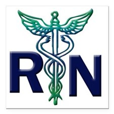 "rn copy Square Car Magnet 3"" x 3"""