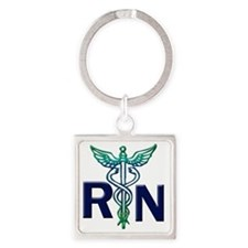 rn copy Square Keychain