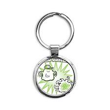 team-amoeba-greener Round Keychain
