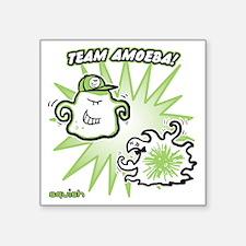 "team-amoeba-greener Square Sticker 3"" x 3"""