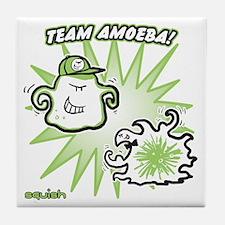 team-amoeba-greener Tile Coaster