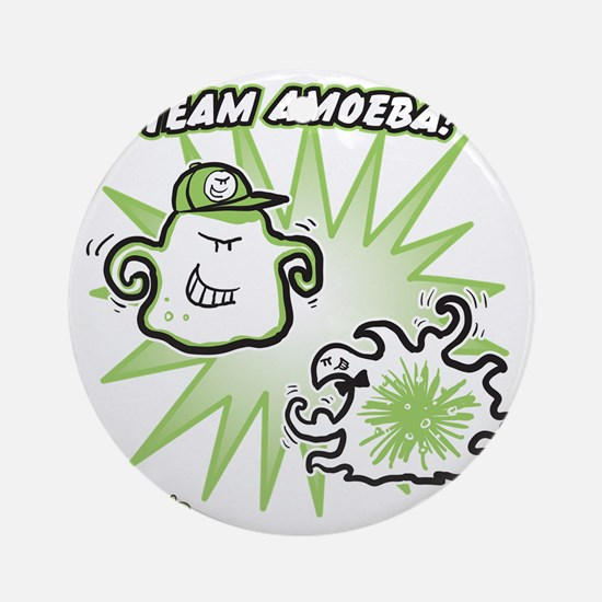 team-amoeba-greener Round Ornament
