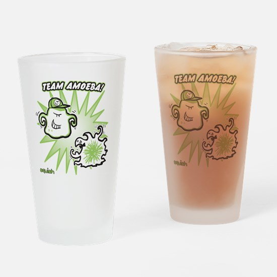 team-amoeba-greener Drinking Glass
