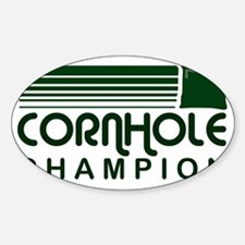 cornholeretro1 Sticker (Oval)