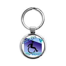2-dontdis1png Round Keychain