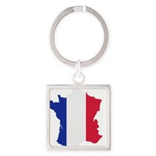 france_map_3c Square Keychain