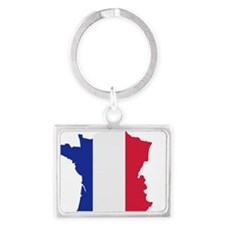 france_map_3c Landscape Keychain