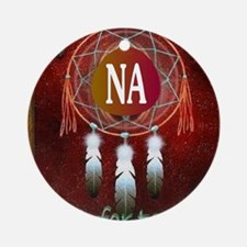 2-NA INDIAN Round Ornament